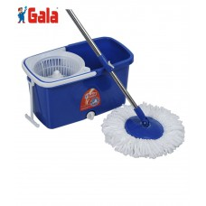 Deals, Discounts & Offers on Home Appliances - Gala Spin Mop With Easy Wheels And Bucket For Magic 360 Degree Cleaning