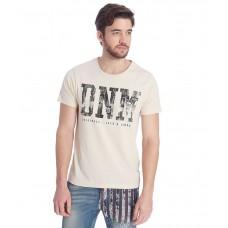 Deals, Discounts & Offers on Men Clothing - Jack & Jones Off-White Half Sleeves T-Shirt