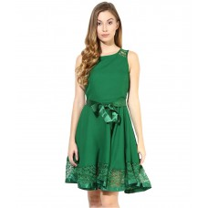 Deals, Discounts & Offers on Women Clothing - Flat 55% off on The Vanca Green Georgette Dresses