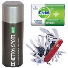 Deals, Discounts & Offers on Accessories - Flat 89% off on Benetton+ Utility knife + Dettol