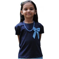 Deals, Discounts & Offers on Kid's Clothing - Snowflakes Solid Girl's Round Neck T-Shirt