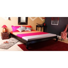 Deals, Discounts & Offers on Home Appliances - Newnham King Size Bed in Espresso Walnut Finish by Amberville