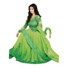 Deals, Discounts & Offers on Women Clothing - Ayesha Takia Parrot Floor Length Anarkali Suit