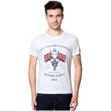 Deals, Discounts & Offers on Men Clothing - Allen Solly Printed Men's Round Neck T-Shirt