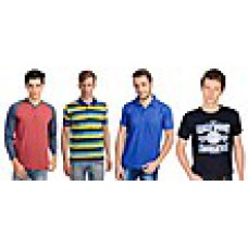 Deals, Discounts & Offers on Men Clothing - Combo of 4 Men T Shirts at Rs 999 only