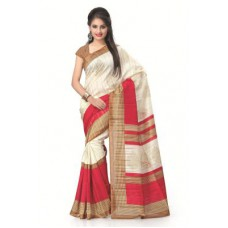 Deals, Discounts & Offers on Women Clothing - Vaamsi Printed Bhagalpuri Silk Saree