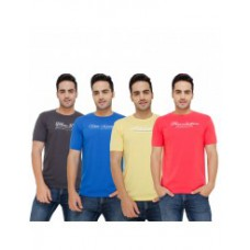 Deals, Discounts & Offers on Men Clothing - Round Neck T-Shirt Pack Of 4