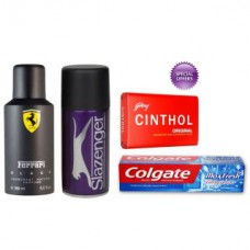 Deals, Discounts & Offers on Accessories - Combo of 2 Branded Deodorants With Colgate Maxfresh And Cinthol Soap