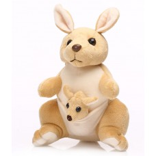 Deals, Discounts & Offers on Baby & Kids - Kangaroo with Baby in Pouch Creamish Brown Soft Toy