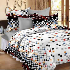 Deals, Discounts & Offers on Home Decor & Festive Needs - Home Cotton Abstract Double Bedsheet