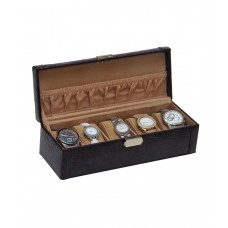 Deals, Discounts & Offers on Home & Kitchen - Borse Dark Brown Spacious Watch Case