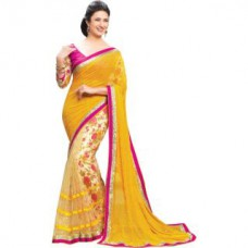 Deals, Discounts & Offers on Women Clothing - New Designer Fancy Georgette Saree