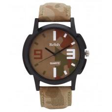 Deals, Discounts & Offers on Men - Relish Multicolour Leather Wrist Watch For Men