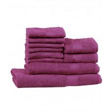 Deals, Discounts & Offers on Home & Kitchen - Trident Deep Purple 10 Pcs Towel Set