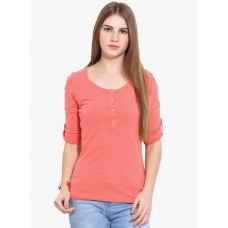 Deals, Discounts & Offers on Women Clothing - Why Knot Pink Solid Blouse