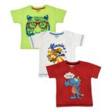 Deals, Discounts & Offers on Kid's Clothing - Hunch Multicolor Cotton T-shirts - Pack Of 3