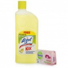 Deals, Discounts & Offers on Home & Kitchen - Lizol Disinfectant Citrus 500 ml Surface Cleaner with Dettol Soap Free