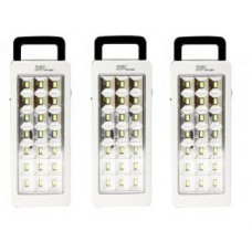 Deals, Discounts & Offers on Home Decor & Festive Needs - Set Of 3 Dp 21 LED Emergency Light 5 Hrs Backup