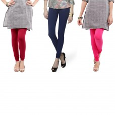 Deals, Discounts & Offers on Women Clothing - Radhika Combo Pack of 3 Cotton Leggings