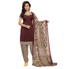 Deals, Discounts & Offers on Women Clothing - Nazaquat Maroon Printed Crepe Unstitched Dress Material