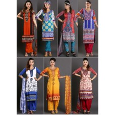 Deals, Discounts & Offers on Women Clothing - Zoha - Pack Of 7 Stunning Printed Suit Materials