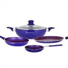 Deals, Discounts & Offers on Home Appliances - Wonderchef Blueberry Non Stick Cookware Set