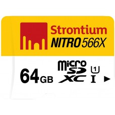 Deals, Discounts & Offers on Electronics - Strontium Nitro 64GB 85MB/s UHS-1 Class 10 MicroSDXC Memory Card