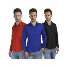 Deals, Discounts & Offers on Men Clothing - Pack of 3 Shirts for Men