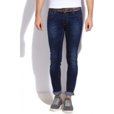 Deals, Discounts & Offers on Men Clothing - United Colors of Benetton Slim Fit Men's Blue Trousers
