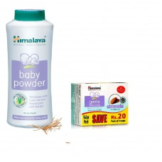 Deals, Discounts & Offers on Baby Care - Himalaya Baby Powder, 400 g with Soap Value Pack, 75 g - Pack of 4
