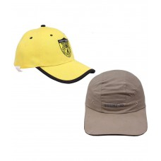 Deals, Discounts & Offers on Men - Jstarmart Yellow and Beige Cap - Set of 2