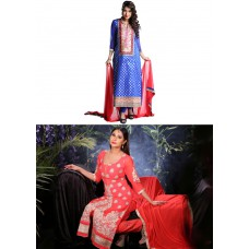 Deals, Discounts & Offers on Women Clothing - Collection of 2 Embroidered Suits