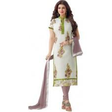 Deals, Discounts & Offers on Women Clothing - Khantil Chanderi Embroidered Salwar Suit Dupatta Material
