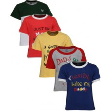 Deals, Discounts & Offers on Kid's Clothing - Gkidz Printed Boy's Round Neck Multicolor T-Shirt - Pack of 5