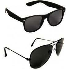 Deals, Discounts & Offers on Men - Red Leaf Combo Pack Aviator, Wayfarer Sunglasses