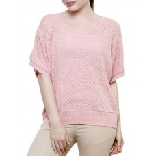 Deals, Discounts & Offers on Women Clothing -  Light pink poly cotton top