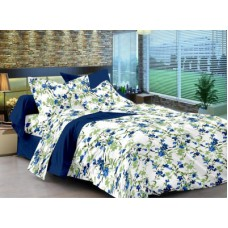 Deals, Discounts & Offers on Home Appliances - Cenizas Cotton Abstract Double Bedsheet