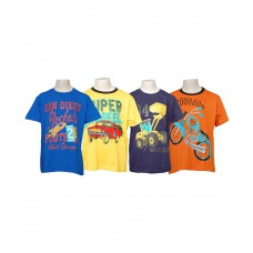 Deals, Discounts & Offers on Kid's Clothing - Little Stars Pack Of 4 Multicolour Half Sleeves T-Shirt For Boys