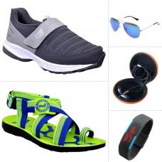 Deals, Discounts & Offers on Men - ABZ Men's Sports Shoes & Accessories Combo