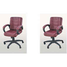 Deals, Discounts & Offers on Furniture - Adiko Leatherette Office Chair - Set of 2