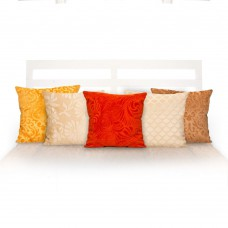 Deals, Discounts & Offers on Home & Kitchen - Po Box Faux Velvet Floral Cushion Cover Set Of-5