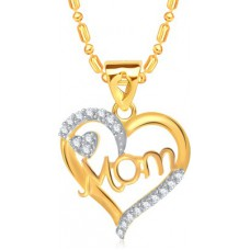 Deals, Discounts & Offers on Earings and Necklace - VK Jewels Stunning Yellow Gold Cubic Zirconia Alloy Pendant