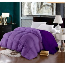 Deals, Discounts & Offers on Home Decor & Festive Needs - Raymond Plain Double Quilts & Comforters Purple