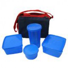 Deals, Discounts & Offers on Accessories - Topware Plastic Lunch Box Set of 4