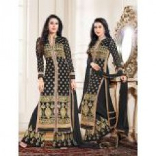 Deals, Discounts & Offers on Women Clothing - Thankar New Designer Black Straight Plazo Suit