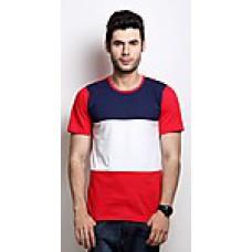 Deals, Discounts & Offers on Men Clothing - Rigo Blue And White Cotton Men T-Shirt
