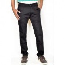 Deals, Discounts & Offers on Men Clothing - Casual Black Twill Cotton Slim Fit Chinos