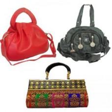 Deals, Discounts & Offers on Women - Estoss Set Of 3 Handbag Combo