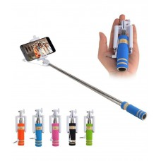 Deals, Discounts & Offers on Mobile Accessories - Axomart Multicolour Selfie Stick with Aux Cable