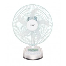 Deals, Discounts & Offers on Electronics - Eveready 10 Inch Rechargeable Table Fan with LED Light